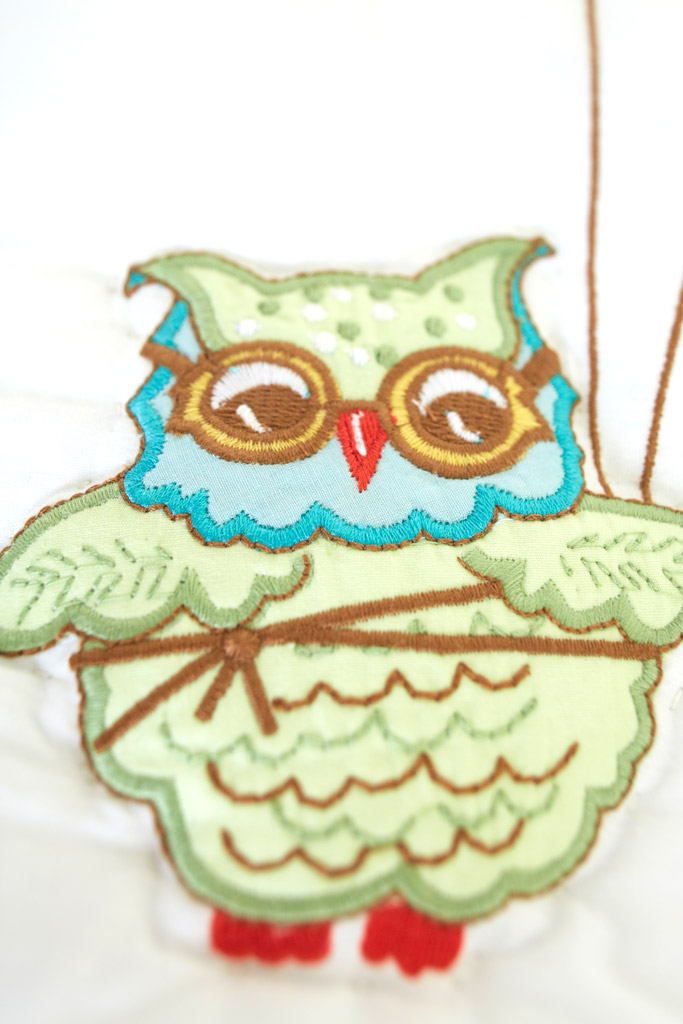 Nursery Bedding Nursery Bedding Sets Earnest Green Owl Bird Embroidery Crib Bumper Bedding New